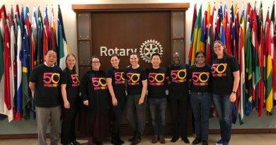 Members of the RI Rotaract - Interact Committee