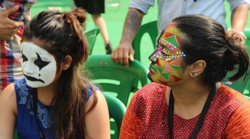 Face-painting-participants