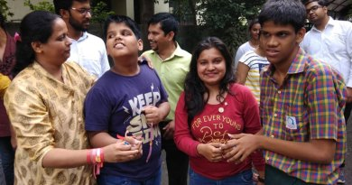 Rotarctors of RAC Techplorers celebrate Friendship Day with children at the Aarambh Autism Centre.
