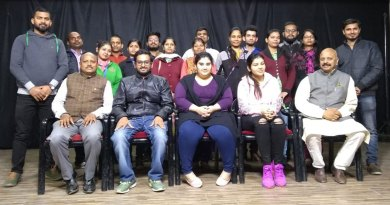 The Rotaractors of RAC Varanasi South with their president Marshneil Dey (centre).