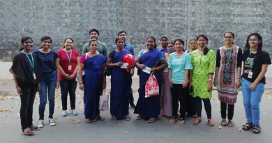 Rotaractors cheer sanitation workers with 'Thank you' notes.