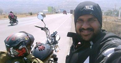 Minhajullah Hashmi on a bike expedition.