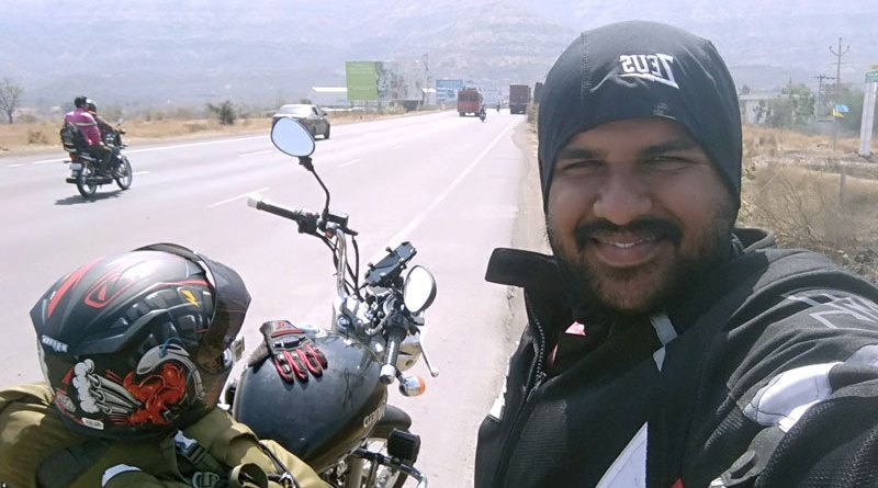 Minhajullah Hashmi on a bike expedition.