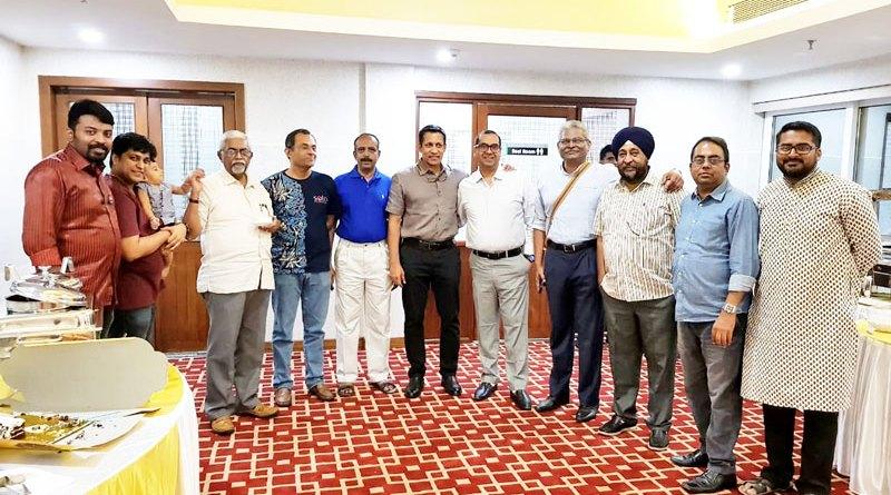 Charter Day celebration with past Rotaractors. Extreme left is IPP Shyam Prakash.