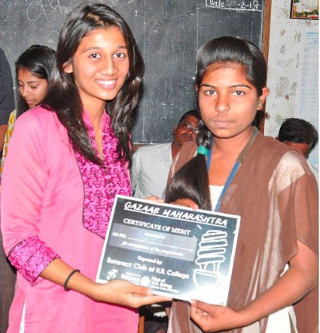 A young participant at Project Gazab Maharashtra.