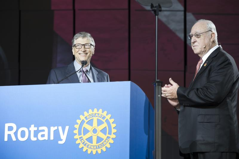 rotary and the bill melinda gates foundation announce 450 million commitment to end polio