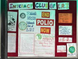inter house polio chart decoration interact club of l.r.i school 1