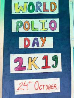 inter house polio chart decoration interact club of l.r.i school 13