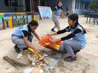 cleaning camp interact club of vishwa adarsha school 1