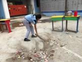 cleaning camp interact club of vishwa adarsha school 8