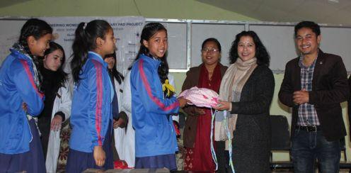 sanitary pad distribution rc dhulikhel nepal 3