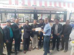 blood collection ac bus handover rotary club of pokhara annapurna 8