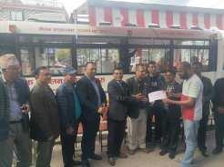 blood collection ac bus handover rotary club of pokhara annapurna 9