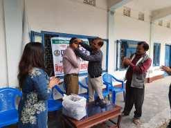 mask distribution interact club of pragyan academy 3
