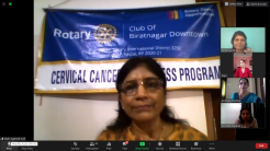 Online Awareness Program on Cervical Cancer conducted by Rtn. Dr. Shanti Subedi (3)