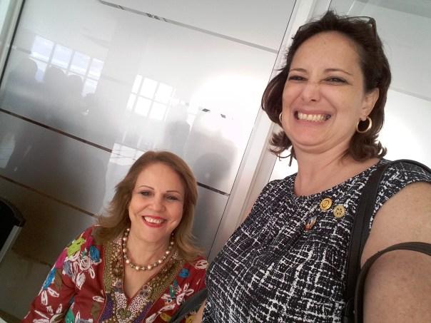 Miguelina Acosta Pasada Gobernadora 15-16 del Distrito 4060 y Rosa Polanco