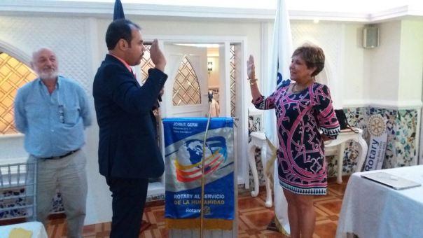 Juramentación Olga de los Santos para apadrinar obras medio ambientales 2016-17