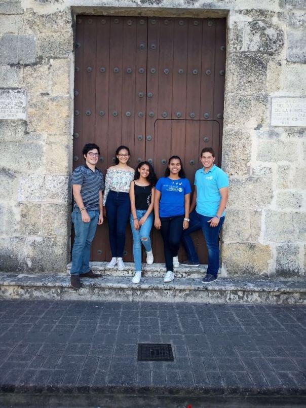 Visita oficial de la RDI Leslie Marteal club interact Santo Domingo Bella Vista