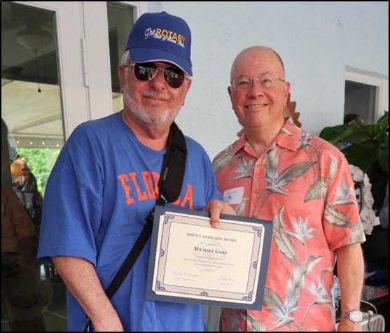Mike Gora- Service above Self Award