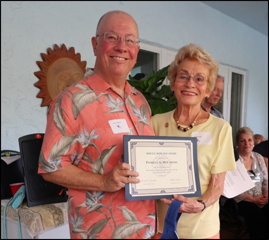 Pat McCarthy – President's Award for Outstanding Service
