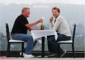Bob with Gordon Ramsay in Hollywood
