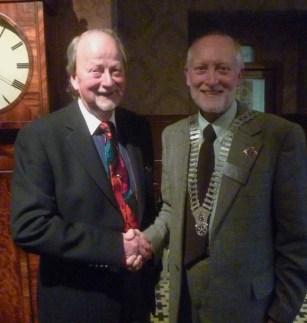 Alan Hodgkinson with President Douglas