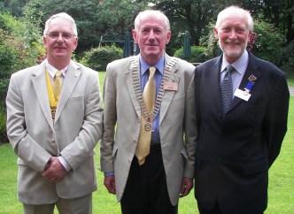 Craig Wilson, President Elect, President harry Peters & past President Douglas Haddow