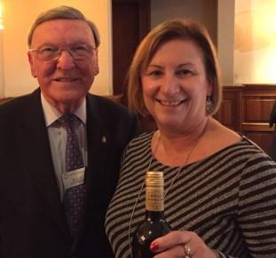 Willie Stewart with winner Eileen Alexander
