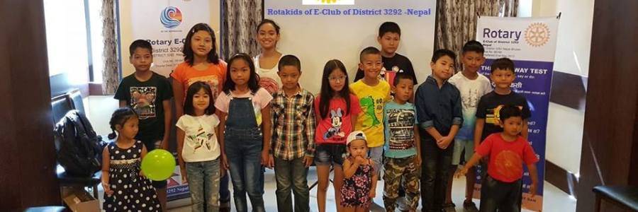 first Rotary kids club of one & only Rotary E-Club of District 3292