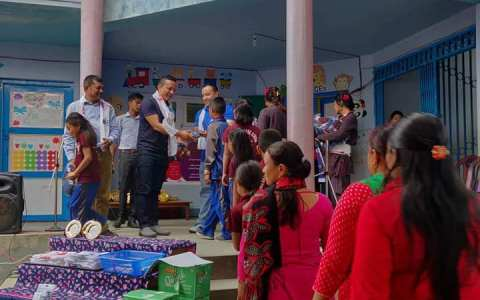 School Uniform Sponsor to Outstanding Students- Rotary E-Club of District 3292, Nepal