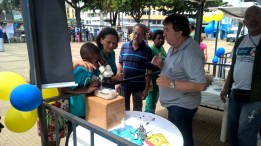 Para imcrementar a divulgação do combate ao Aedes Aegypt o Controle de Zoonoses da Prefeitura de Juiz de Fora também participou.