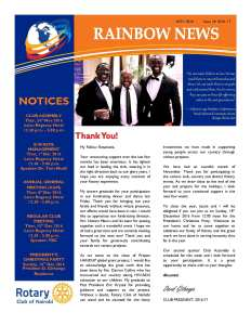 thumbnail of RAINBOW NEWSLETTER ISSUE 18 – NOVEMBER 2016