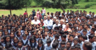 At a school in Panshet village, Pune.