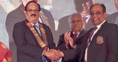 DG C R Raju and Shanthi with RID Manoj Desai and IPDG ISAK Nazar.