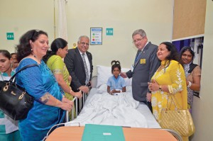 RID Manoj Desai visits RC Chandigarh's Project Heartline at the Fortis Hospital.