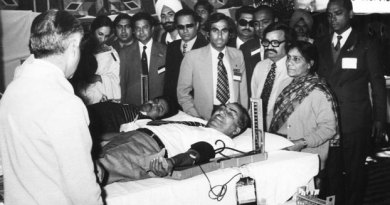 "Rtn Brijmohan Lall Munjal donating blood at a Rotary Conference in 1973. There are people, though not very often, who come to the world with divine blessings and make their own destiny, overcoming the challenges of humble beginnings and life's hurdles. In the process they create history. Such a person is known as a Yug Purush, or a person of an era. And when they depart they leave an indelible mark on posterity to remember.   Brijmohan Lall Munjal, Chairman Emiretus of Hero MotoCorp, was one such person born in 1923 in Kamalia, now in Pakistan. When he passed away on November 1 at the age of 92, an era passed with him. The era that saw the Partition of the country with immense human tragedies, but also the emergence of a new India with hope, freedom and opportunities. In this new era, achievements in science radically changed lives and opened new vistas for better quality of life. In this period, mobility patterns changed, and bicycles and later motorised two wheelers, became popular and remain even today the most commonly used vehicles. Brijmohanji became a part of this upswing. After Partition he settled in Ludhiana, Punjab, first selling bicycle parts door-to-door and then manufacturing them. The whole family became a part of the business and soon Hero was born, manufacturing bicycles, competing with even world-class brands. Under his leadership Hero Cycles became the world's largest bicycle manufacturer. But he had a larger vision and simultaneously went into manufacturing motorcycles and scooters. Today the group is the biggest in the two-wheeler segment. Spirituality, compassion But I don't want to talk about how great Brijmohanji was as entrepreneur extraordinaire, which he indeed was, but to share my thoughts about him as a man. Each one of us faces a choice as we move on in life. This journey challenges us to find a vision and then to make that vision a reality. But only very few can convert that vision into action. There are no limits on how you envision life. Most have limitations but he was one who extended his limits further and further. This made him different from all others. He was not only beyond self- consciousness but also capable of shaping his own life and lives of those who came in touch with him. This he did through his inner potential of spirituality blended with compassion and action. It was my privilege to know ­Brijmohanji as we walked along the Rotary path. This co-travel converted first into close friendship and then a family-like relationship. I got to know him around 1969–70 and then saw him in action in Rotary during the District Conference in Ludhiana, of which he was the chairman. I recollect well how the enormous pandal built to accommodate over 600–700 people got blown away in a thunderstorm the previous day and Brijmohanji led the team to make alternate arrangements to organise one of the most memorable conferences I've ever attended. That showed the capacity of the man. As we worked together in Rotary, we came close. In 1973, he became a candidate for governorship of the Rotary district encompassing the whole of Punjab, Haryana, Himachal Pradesh, J?&?K, Delhi and a substantial part of Uttar Pradesh. That year Rtn R?K Beri got elected. However, Brijmohanji's love and work for Rotary never ceased or diminished. Ultimately he became the Governor of the bifurcated District 3090 for 1977–78. It was my privilege to handover the governorship to him after completion of my term. I could not have found a better successor to lift Rotary in the District and the country to a higher echelon. An example in service Though busy in his business and profession, he became an example of how if you have the will to extend yourself in Service above Self, you can find time both for your profession and service. He contributed his time and energies generously to Rotary, was involved in his Club and District affairs and participated in Zone Institutes. His humility and belief in social service became his trademark in human interactions. How can I forget his readiness to donate blood at the blood donation camp I had organised at the Chandigarh Conference? Whenever a project needed monetary support, he'd do his utmost for its success. When I was nominated as RI President in 1989, I was asked who I'd like to formally propose my name at the Portland Convention in 1990, a tradition then. Usha and I spontaneously thought of Brijmohanji. He immediately agreed and with his wife travelled to Portland to propose my name amidst thunderous applause. As I embraced him after my acceptance speech, he whispered in my ear: ""Raja, from now on, I will devote more time in serving humanity and will be at your disposal all the time."" He then gradually retired from active business, handing it over to his sons and devoted more time to spiritual and service pursuits. And, along with my family members, he too attended in 1991 the Mexico City Convention. But tragedy struck him soon after, when he lost his eldest son Raman. He confided to me that his utmost concern was to look after his daughter-in-law Renu, and he plunged back into day-to-day business, and encouraged Renu to attend office, so she did not feel helpless without her husband. That was Brijmohanji. Man of values An impregnable set of values were his life's philosophy. In Ludhiana, I'd always stay with him, and once asked him about his rather small bedroom, and wondered why he didn't shift to a bigger house. He replied: ""Raja, only when all my brothers and other family members will be able to live in separate houses with the same standards, only then I will think of making a change."" This was a great statement from a man who did not think of himself alone, but his entire family. When I asked him the secret of his overtaking so many of his competitors, he said he and his family had a personal relationship with each dealer or distributor, and one of the family members would always attend an occasion of joy or sorrow in any of their homes. He knew most of the dealers and distributors by name. This was his way of dealing with people. At no time his office was out of bounds for any Rotarian. He or she would have to just ask for an appointment and would get it. He would go out of his way to accommodate any request of help from me. We may have started together but he rose to ­Himalayan heights in business and industry and yet his affection for me was unfettered. He would call me sometimes ""Sabooji"" or ""Raja"" but his and Bhabiji's thoughtfulness and kindness to Usha and I were boundless. I cannot forget how he came by a chartered flight to attend my granddaughter Satvika's wedding, and most unusually, stayed overnight in ­Chandigarh to attend the wedding and the reception. We will miss him. He was an uncommon man with the common touch. All of us have to go some day; this is the eternal truth. Brijmohanji lived a full and complete life. American poet Wallace ­Stevens has said, ""Death is the mother of beauty;"" it is our mortality, our acceptance of departure as the final goal of life that exists with all its richness of meaning, the creation of art and the unfolding of the soaring wings of spiritual transcendence. Learning to live well is essential to all those who believe in values and morals. But to live well, we have to learn to depart well, finding a quiet exit from a feast at which we've shared the enjoyment of staying full time. In the thoughts of the great Noble Laureate Rabindranath Tagore, ­Brijmohanji would have said: ""I have had my invitation to this world's festival, and thus my life has been blessed. My eyes have seen and my ears have heard. It was my part at this feast to play upon my instrument, and I have done all I could. Now, I ask, has the time come at last when I may go in and see thy face and offer thee my silent salutation?"" The time had indeed come for my dear friend. Physically he may not be with us now but his indomitable spirit continues to prevail. His departure from this world is truly a celebration of life."