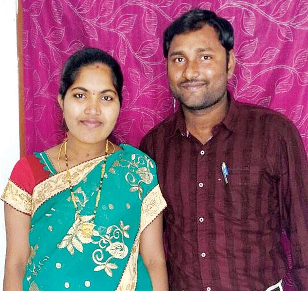 Rama Devi with spouse Venu.