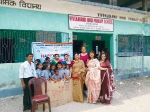 Classroom furniture being donated by Inner Wheel Club Siliguri, IW District 324.