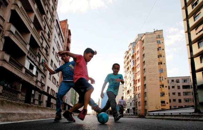 One of these kids could grow up to be the next Pelé.