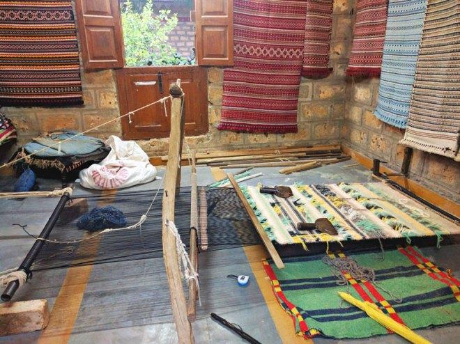 A display of kharad weaving.