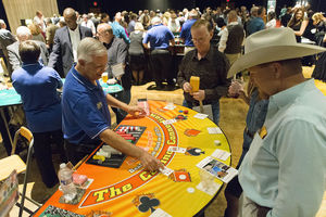Sixth annual Casino Night fundraiser of the Rotary Club of Temple-South.