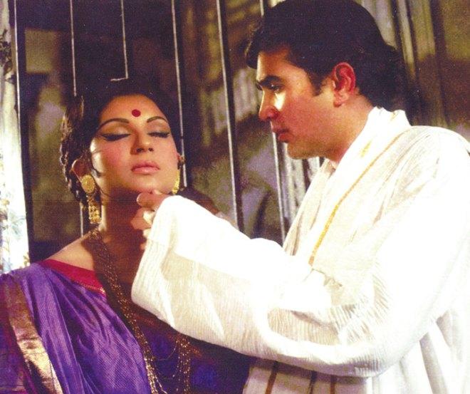 With Sharmila Tagore in Amar Prem.
