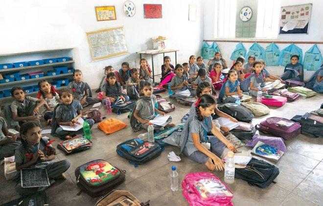 A class in progress in Nirona village.