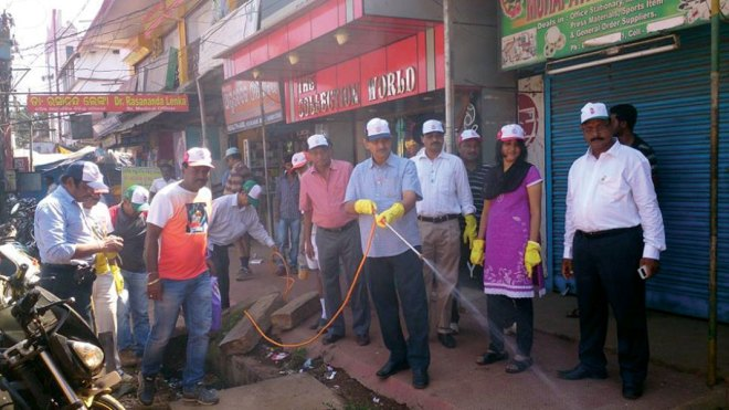 RC Keonjhargarh RI District 3262 The malaria eradication programme performed by the club saw Rotarians spraying pesticides across the city to keep mosquitoes at bay.