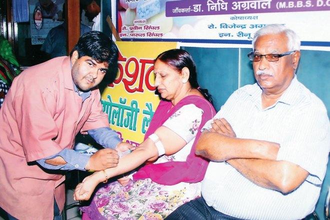 RC Muzaffarnagar Vishal RI District 3100 Medical camp conducted at Keshav Pathology Lab, Muzzafarnagar.