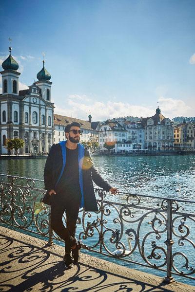 Bollywood star Ranveer Singh in Switzerland