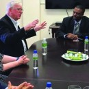 RI President Elect Ian Riseley makes historic visit to Montserrat