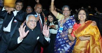 Shaking a leg: (From L) RID Manoj Desai, RIDE C Basker, DGN Pinky Patel and Rashi Mehta (extreme right).