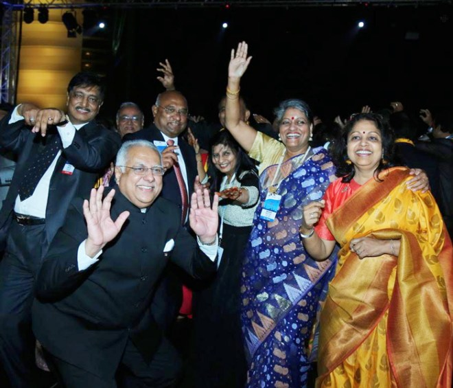 Shaking a leg: (From L) RID Manoj Desai, RIDE C Basker, DGN Pinky Patel and Rashi Mehta (extreme right).