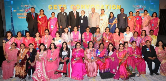 Senior Rotary leaders with the partners of incoming DGs.